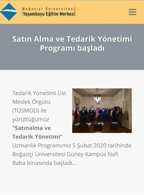 TÜSMOD - BUYEM Satınalma ve Tedarik Yönetimi Programı www.serkanuygur.com.tr